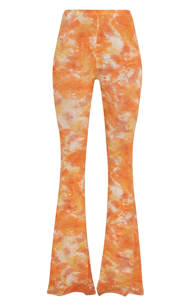 Jaida Orange Tie Dye Flares 4