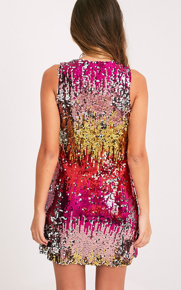 Jazmin Multi Sequin Shift Dress 2