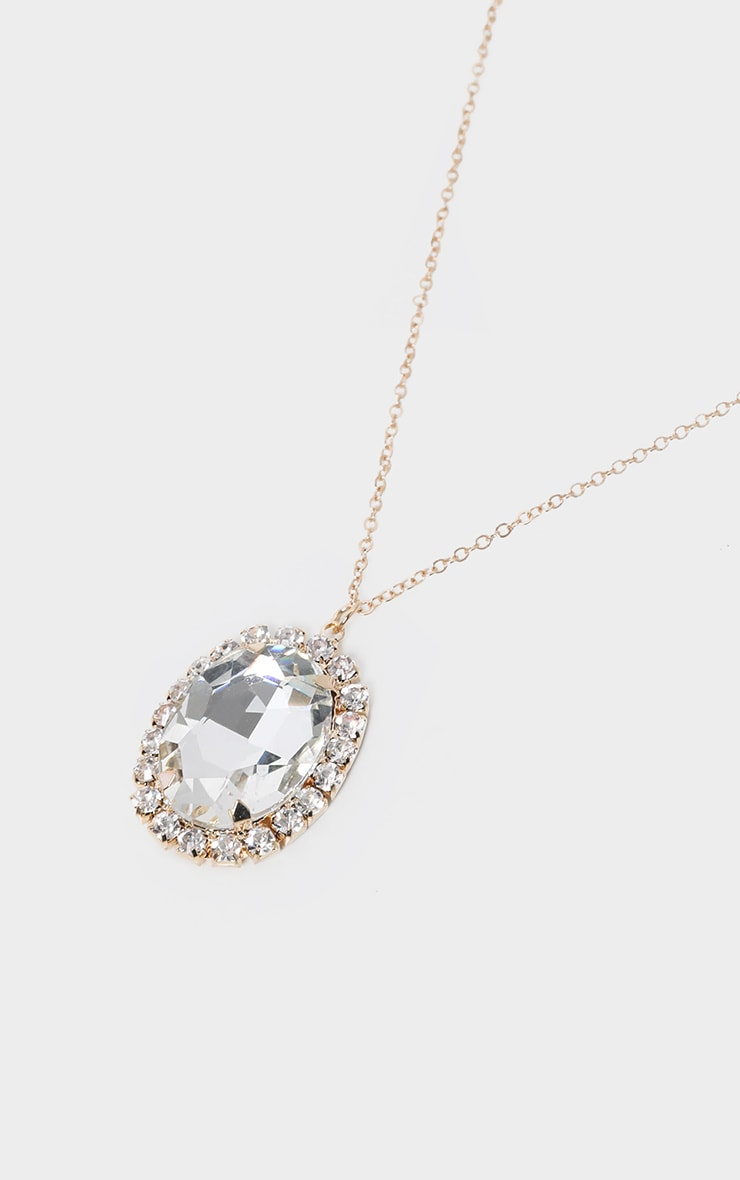 Clear Gemstone Pendant Necklace 3