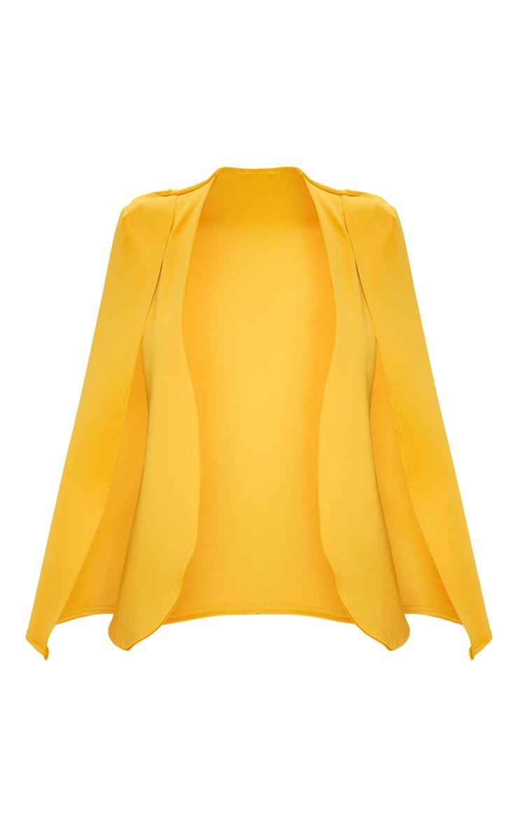 Mustard  Cape Blazer 3