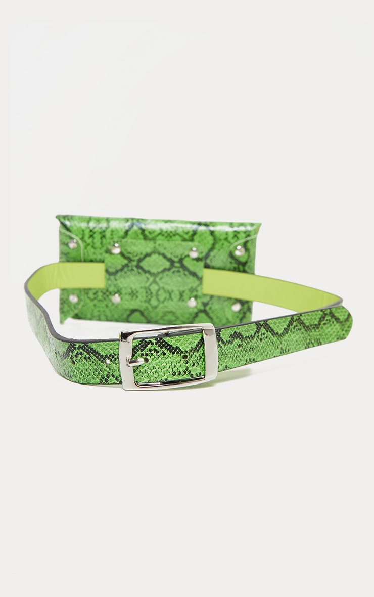 Neon Snake Square Pouch Belt Bag 4