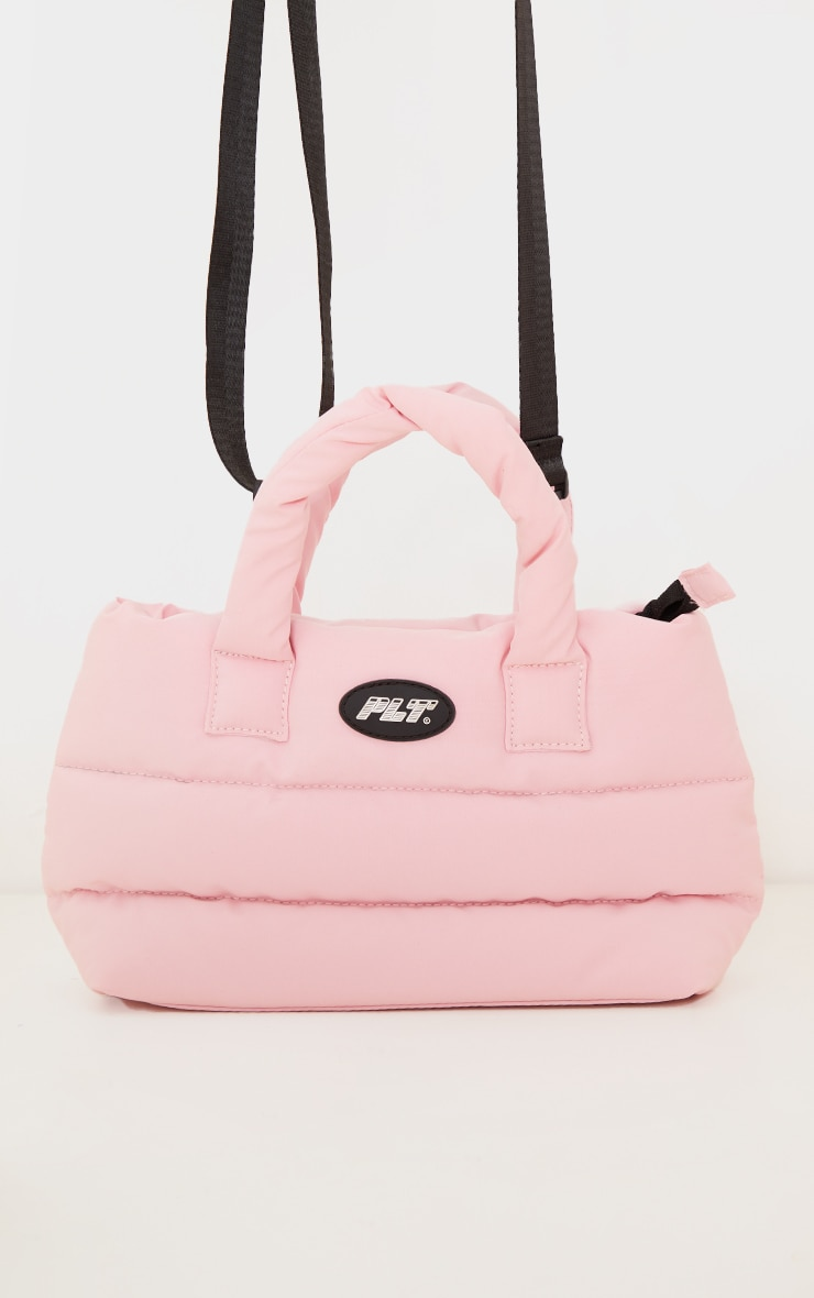 PRETTYLITTLETHING Baby Pink Quilted Cross Body Bag 2