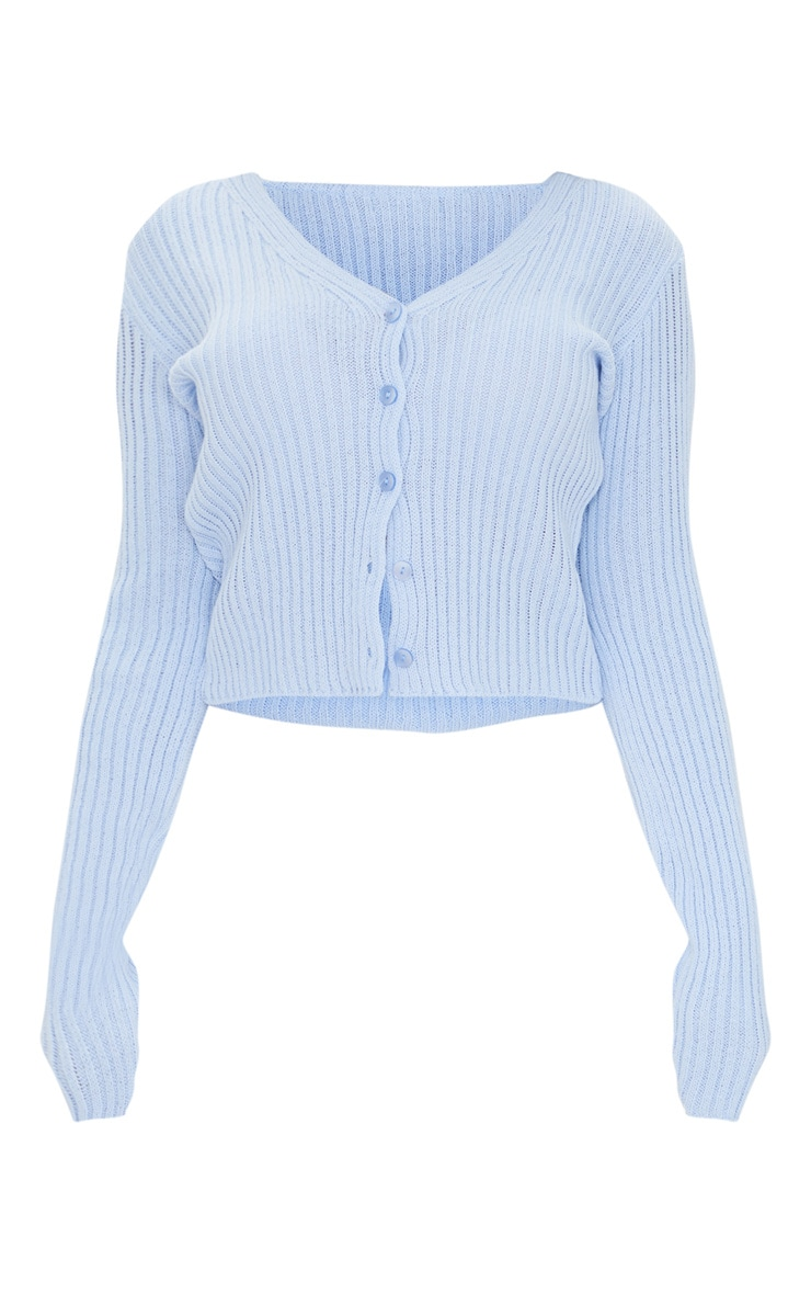 Baby Blue Button Front Cardigan 5
