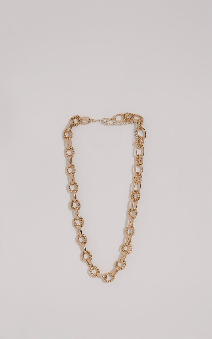 Harley Gold Chain Necklace 1