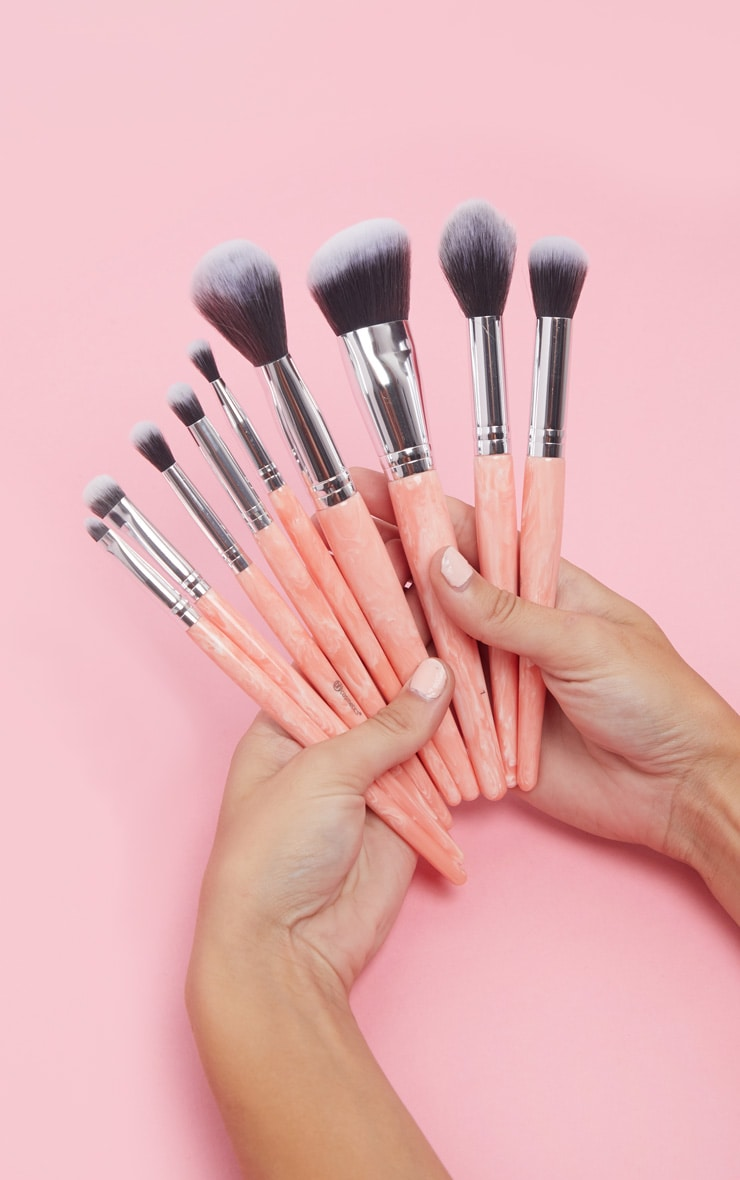 BH Cosmetics Rose Quartz 9 Piece Brush Set 1