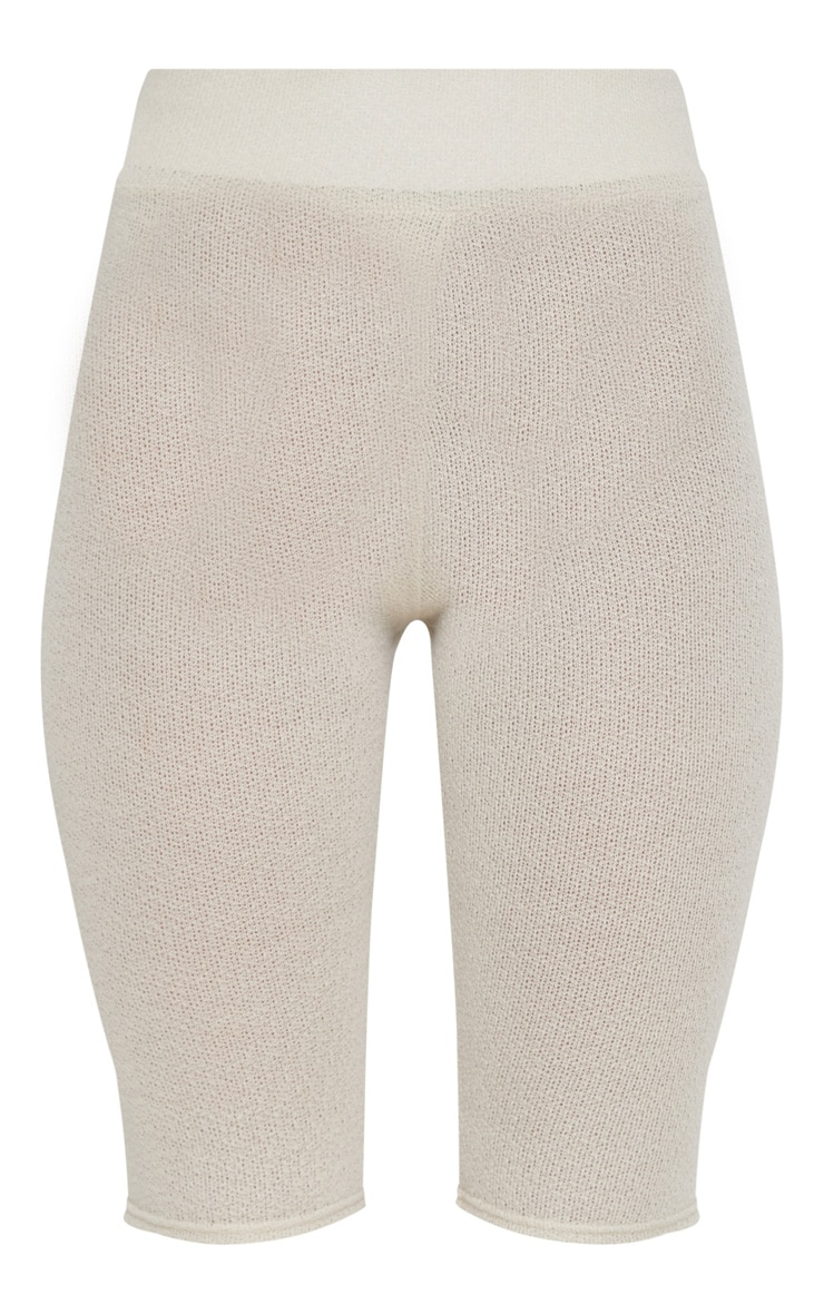 Short legging en tricot léger sable 3