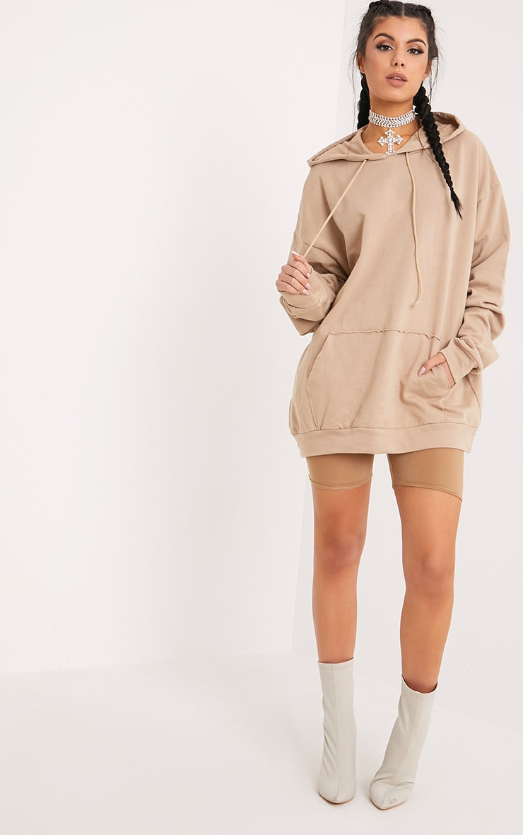 Steph Taupe Oversized Hoodie 4