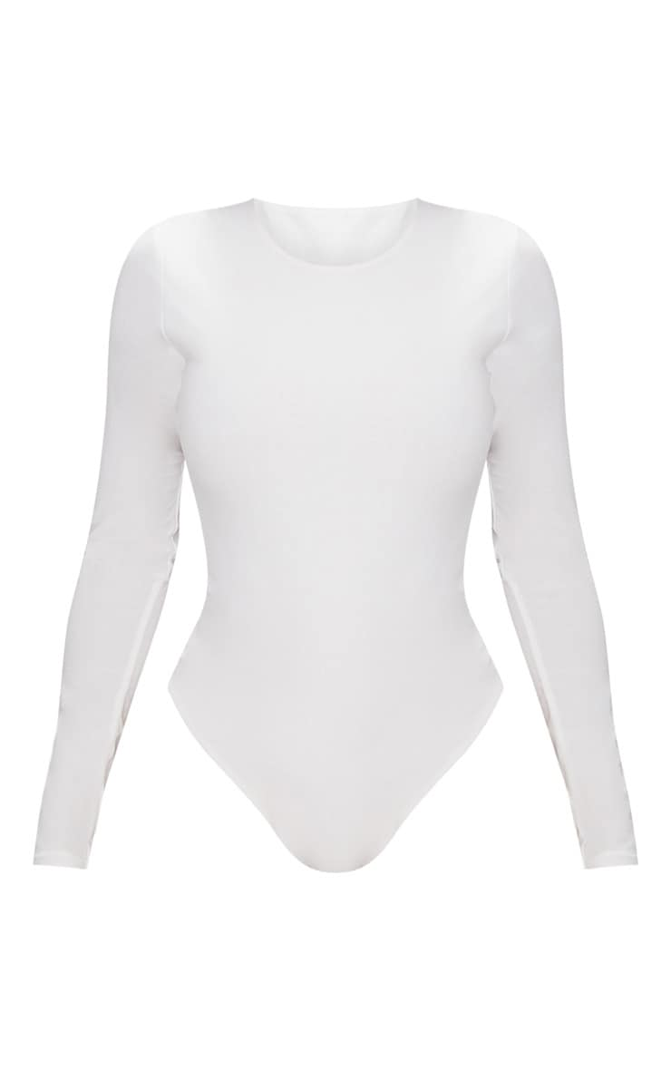 Shape White Long Sleeve Slinky Bodysuit  3