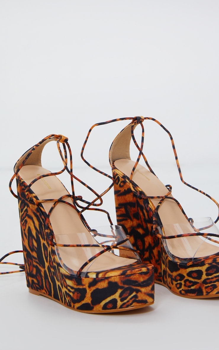 Leopard Print High Wedge 2