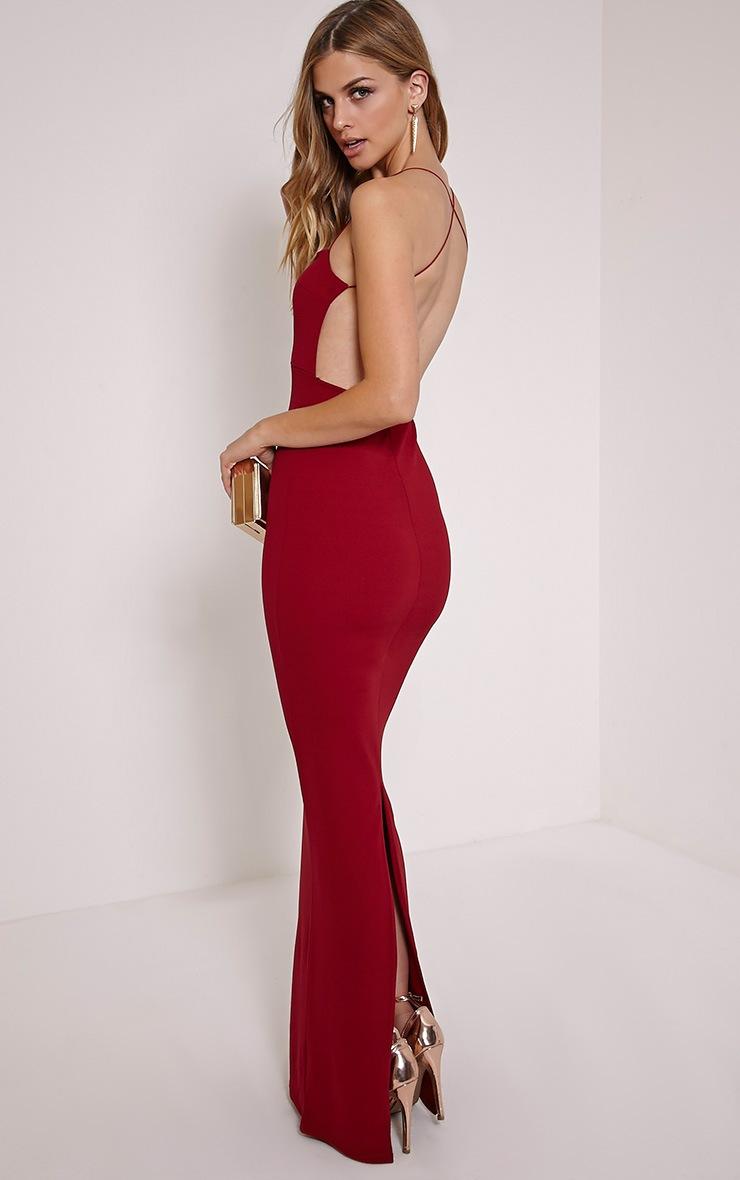 Raye Burgundy Maxi Dress 3