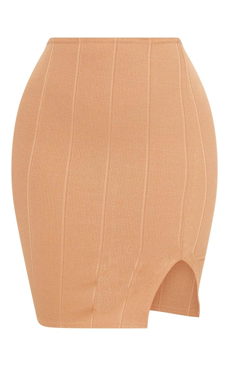 Shape Camel Bandage Bodycon Skirt 3