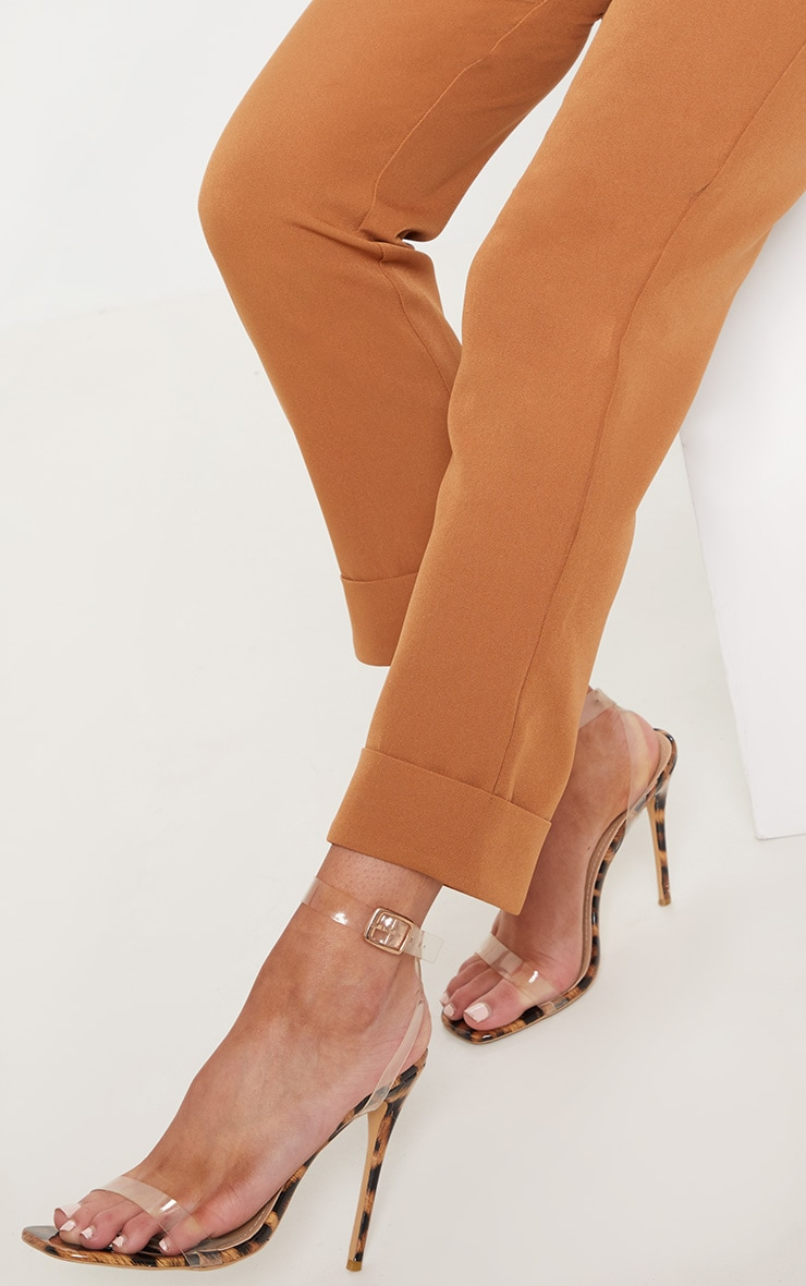 Tan Straight Leg Trouser 5