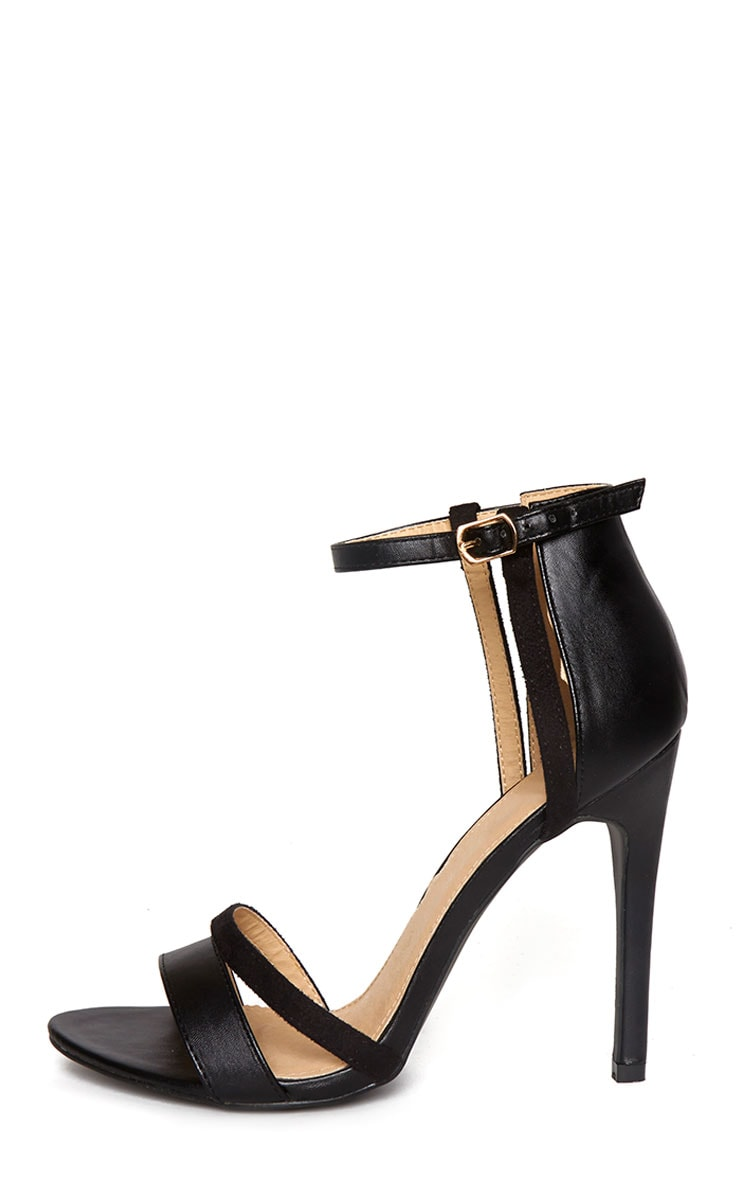 Cassia Black Strap Heeled Sandals 6