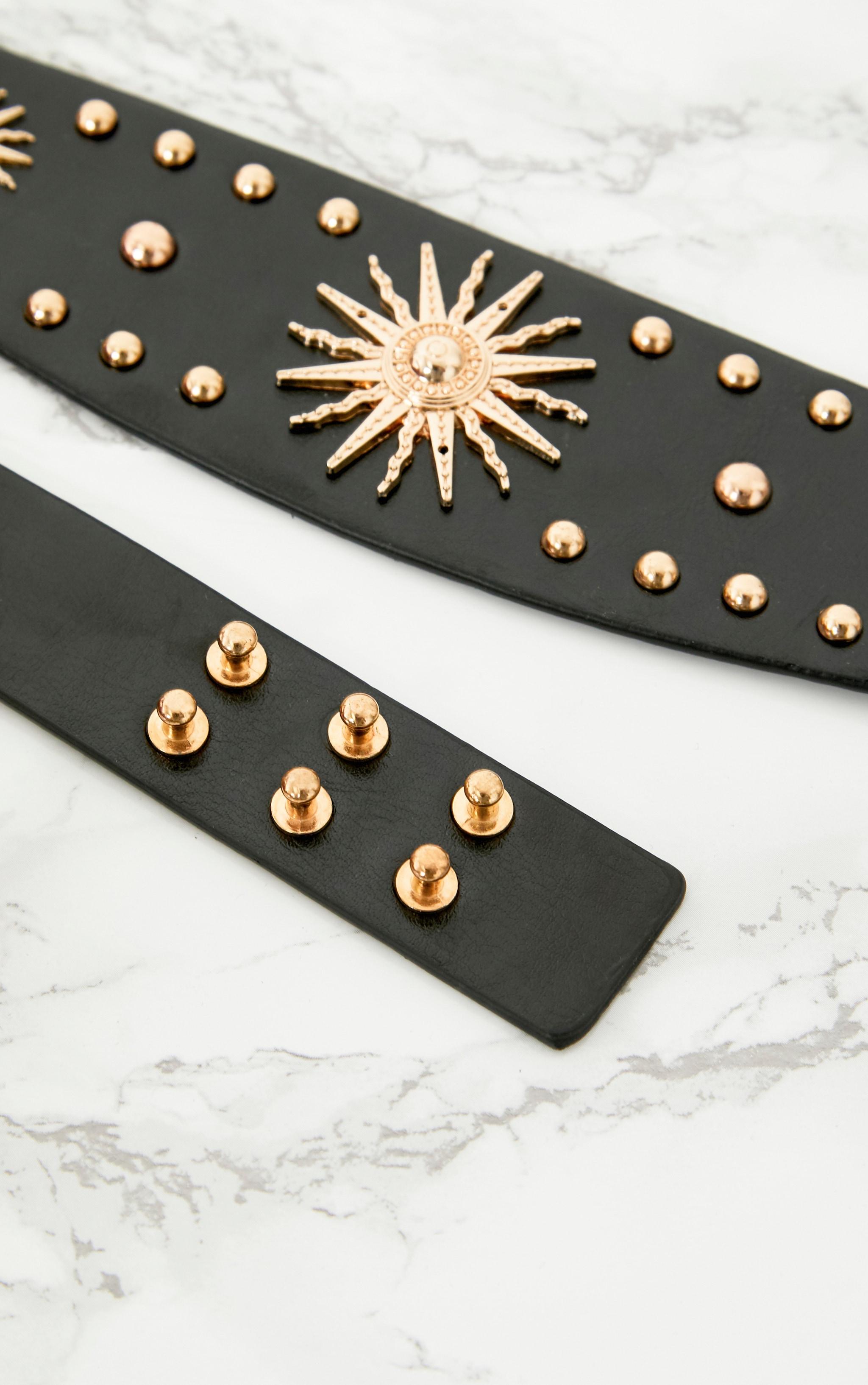 Black Sundial Thick Waist Belt 5