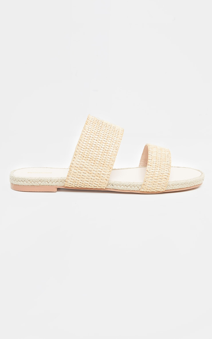 Natural Cross Strap Espadrille Sandal 5