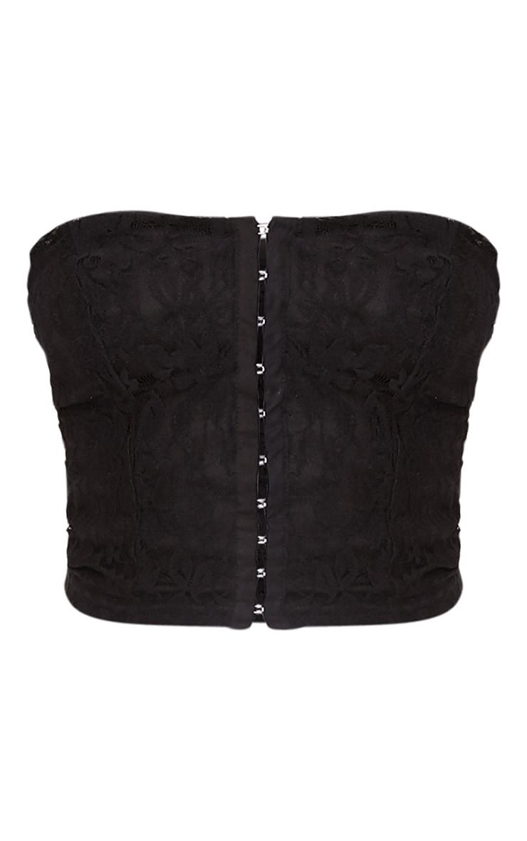 Arlene White Lace Corset Detail T Shirt 3