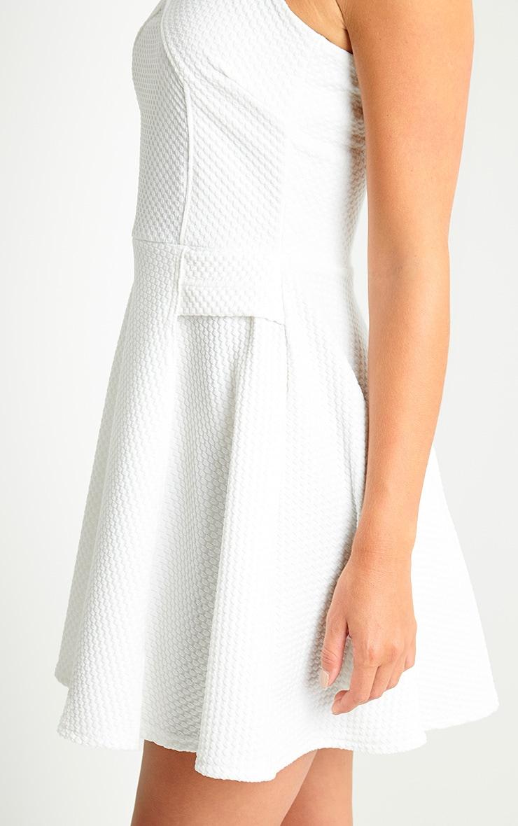 Jenni Cream Textured Skater Dress 5
