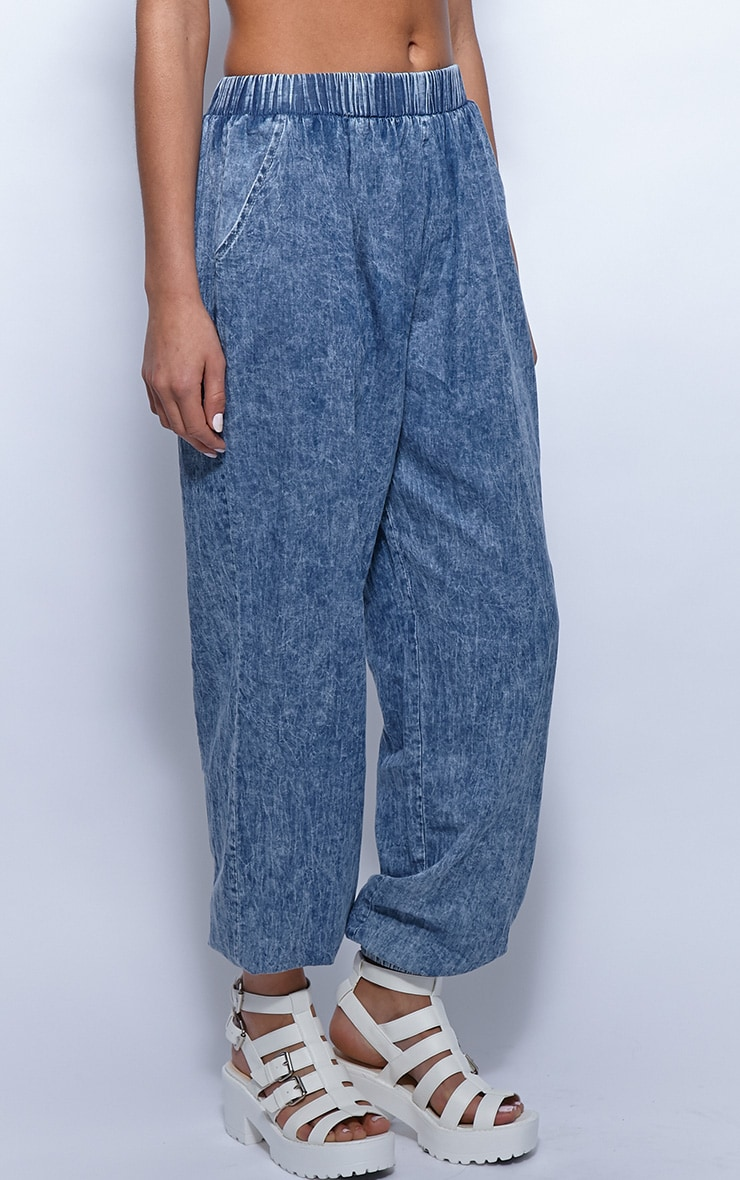 Rhonda Denim High Waist Harem Trousers 3