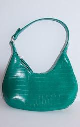 Green Croc Mini Shoulder Bag 3