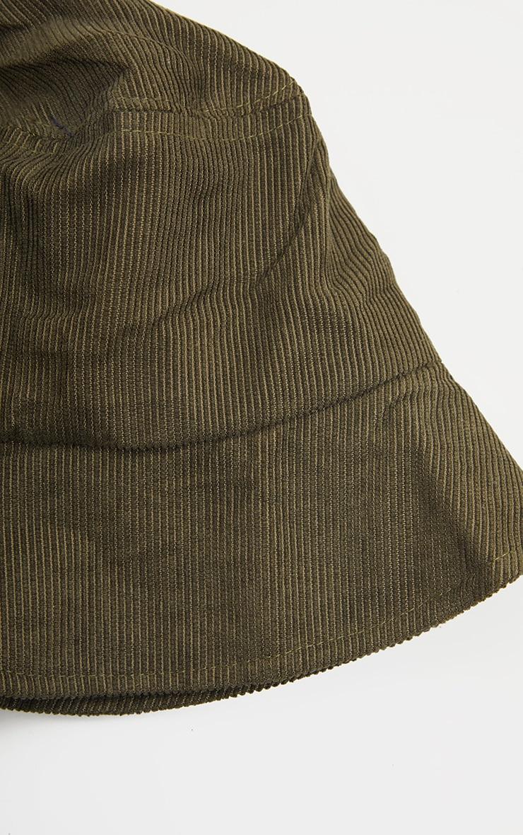 Khaki Cord Bucket Hat 3