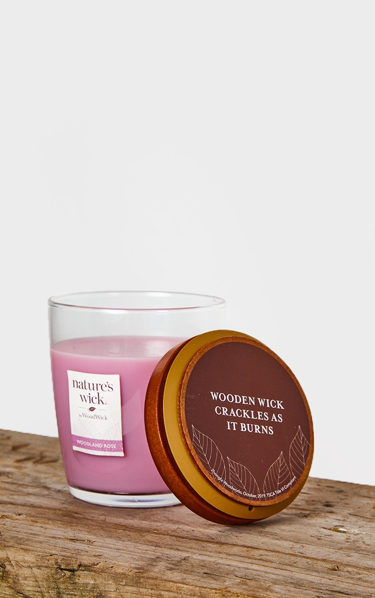 Natures Wick by Woodwick Medium Tumbler Woodland Rose