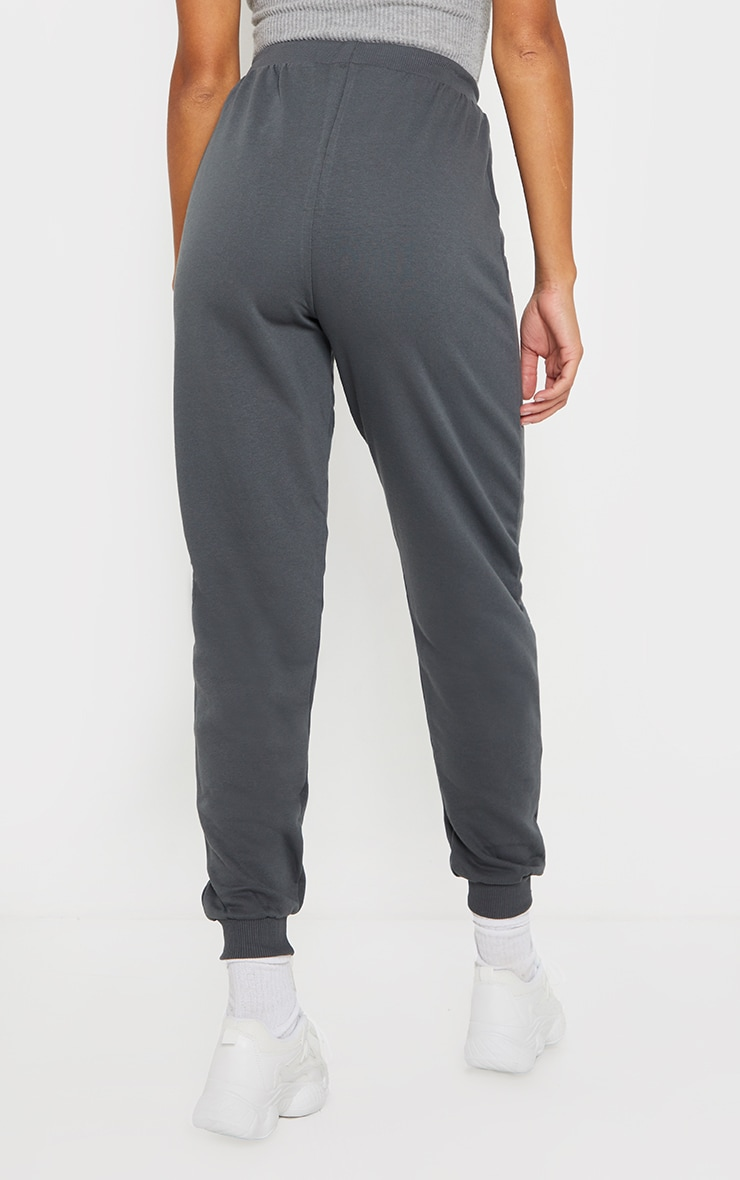 Charcoal Jersey Lounge Skinny Track Pants  3
