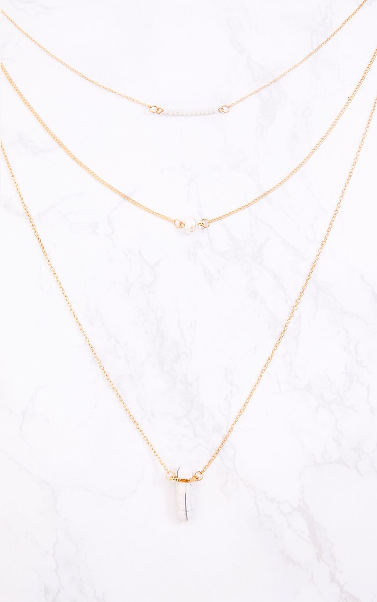 Delanie Gold 3 Layer Necklace  2