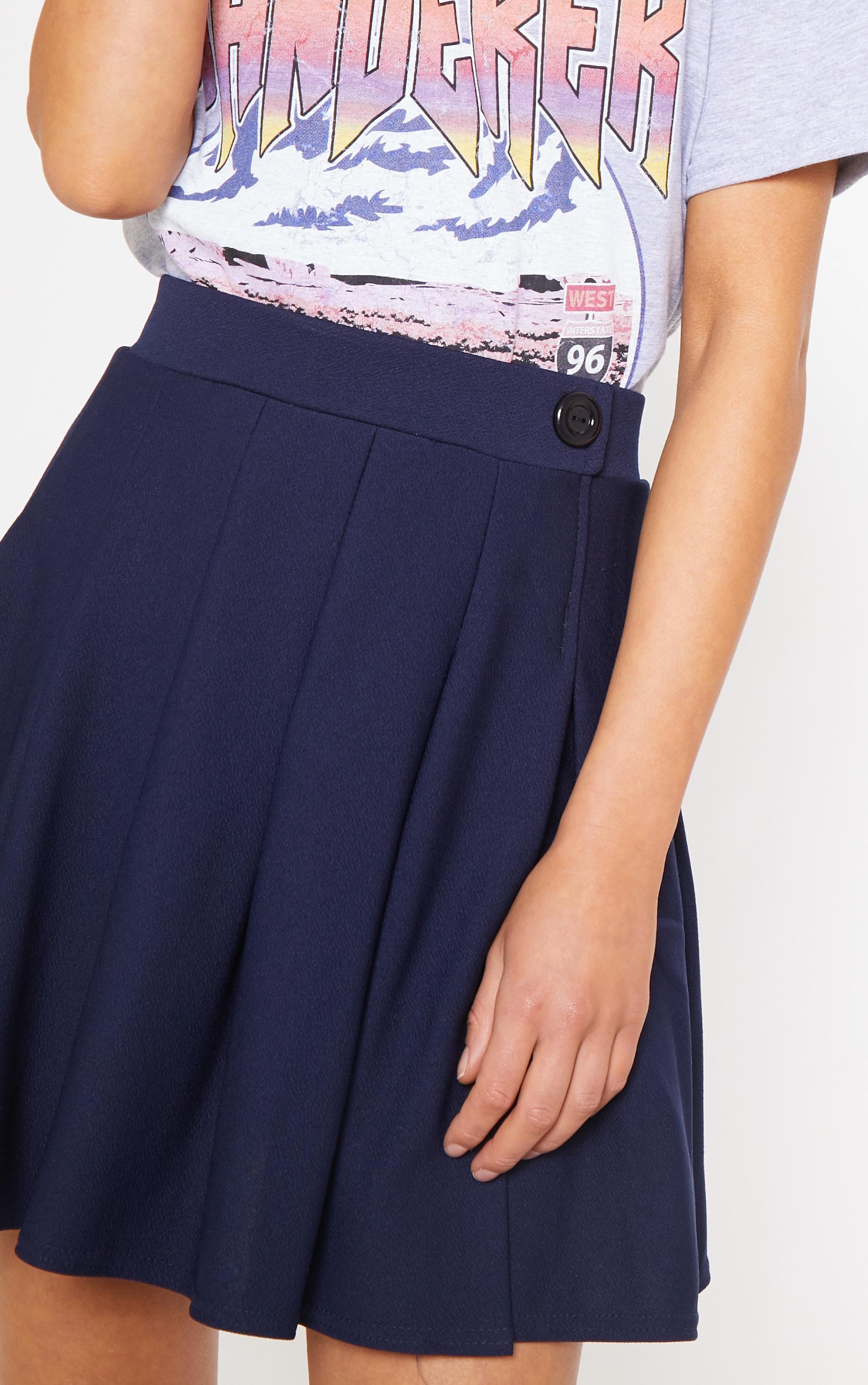 Navy Pleated Tennis Skirt 5