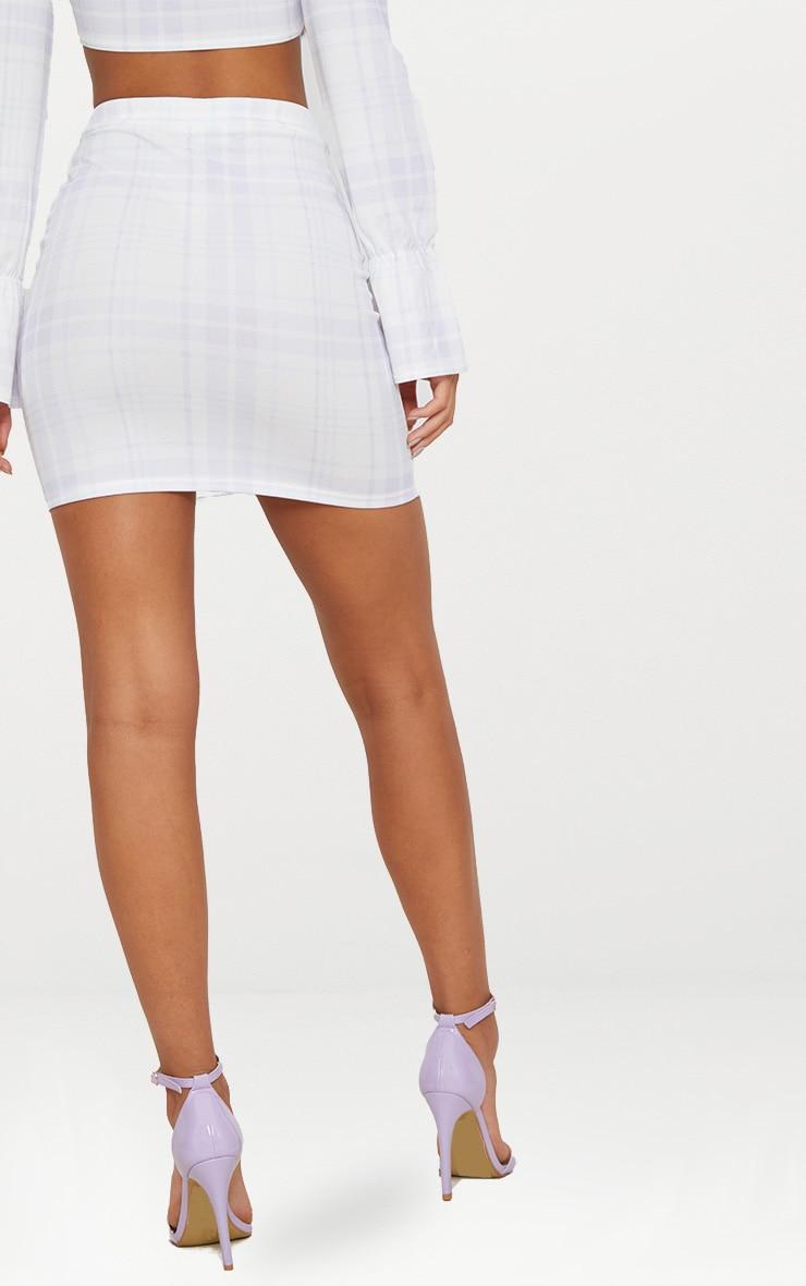 Blue Check Mini Skirt 4
