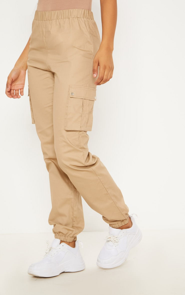 Tall Stone Pocket Detail Cargo Trousers 2