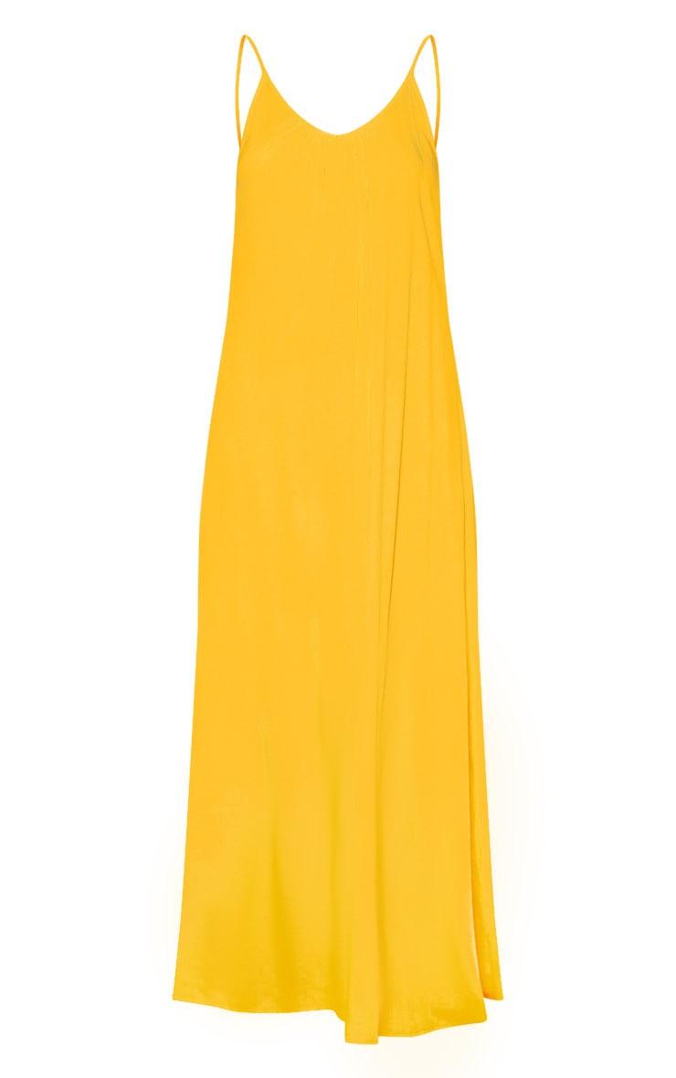 Orange Low Back Oversized Maxi Beach Dress  3