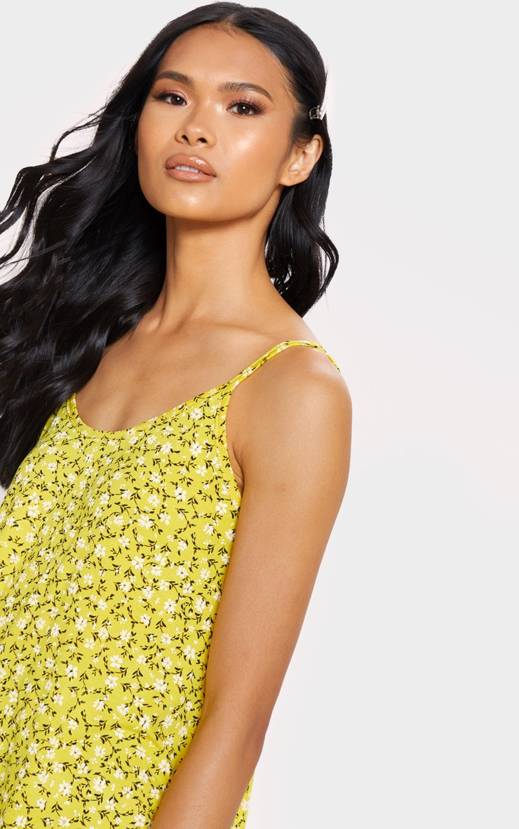 Yellow Floral Printed Floaty Cami 5