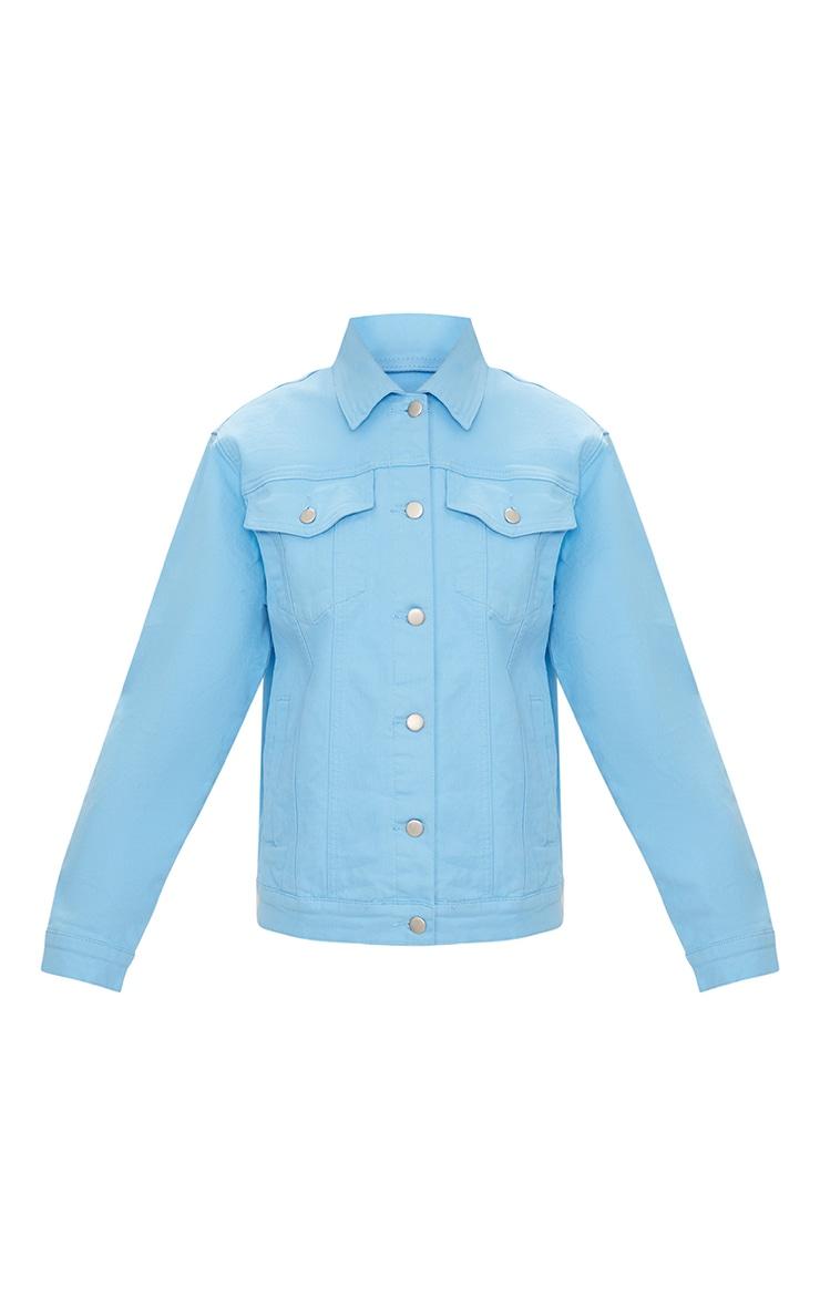 Baby BlueBoyfriend Fit Denim Jacket 2
