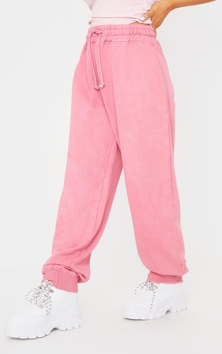 Pink Acid Wash Joggers 2