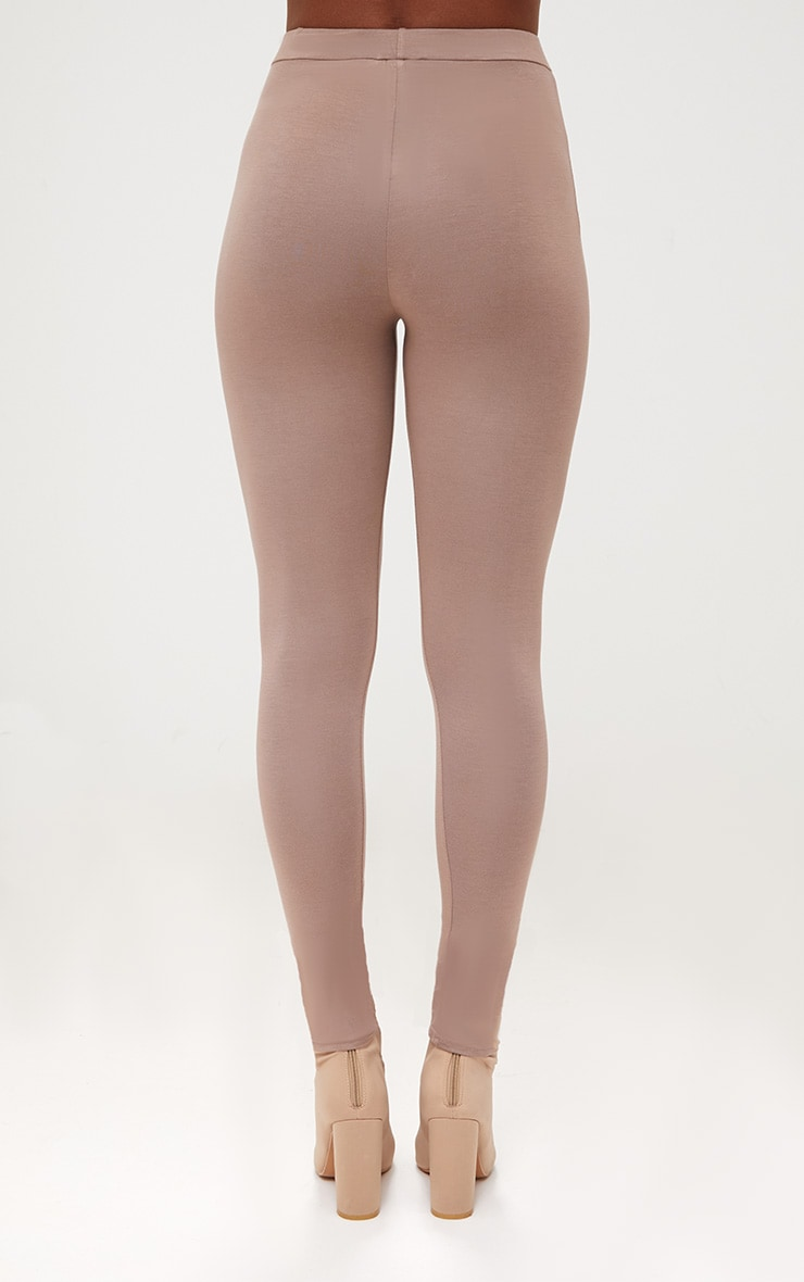 Taupe Ultimate Jersey High Waisted Leggings 4