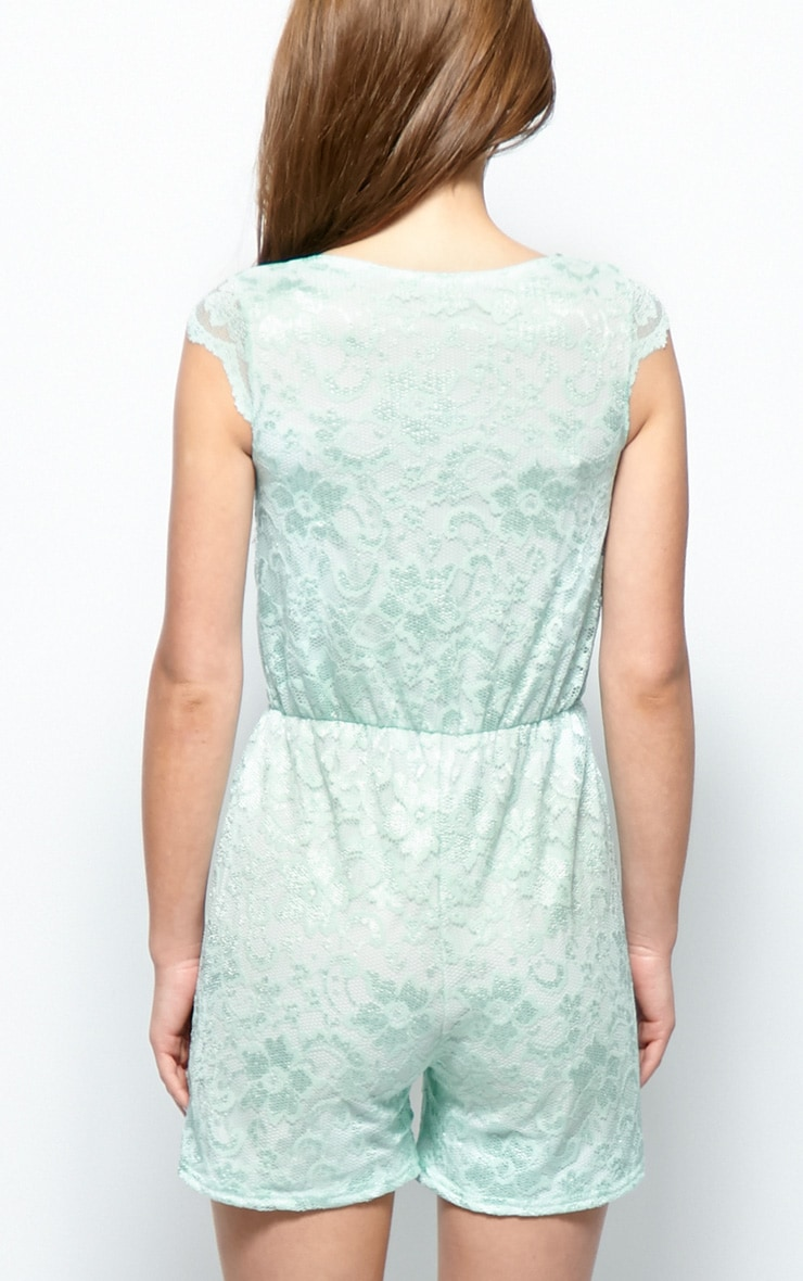 Leila Mint Lace Playsuit 2
