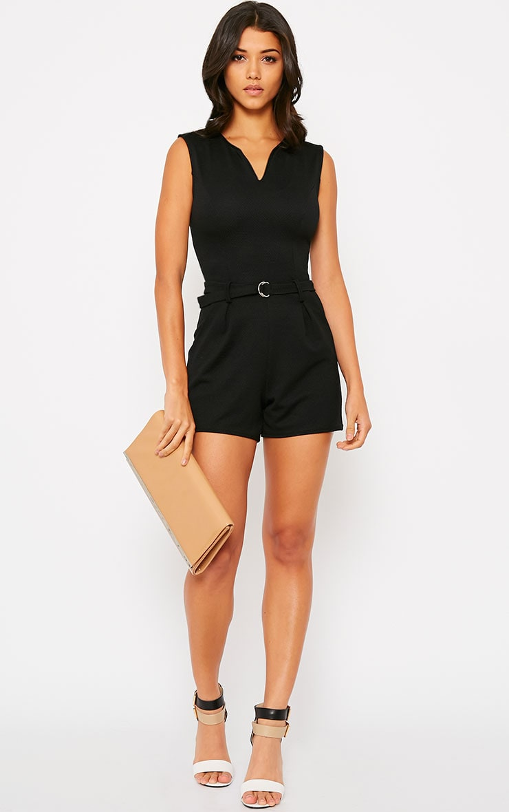 Evie Black D-Ring Playsuit 3