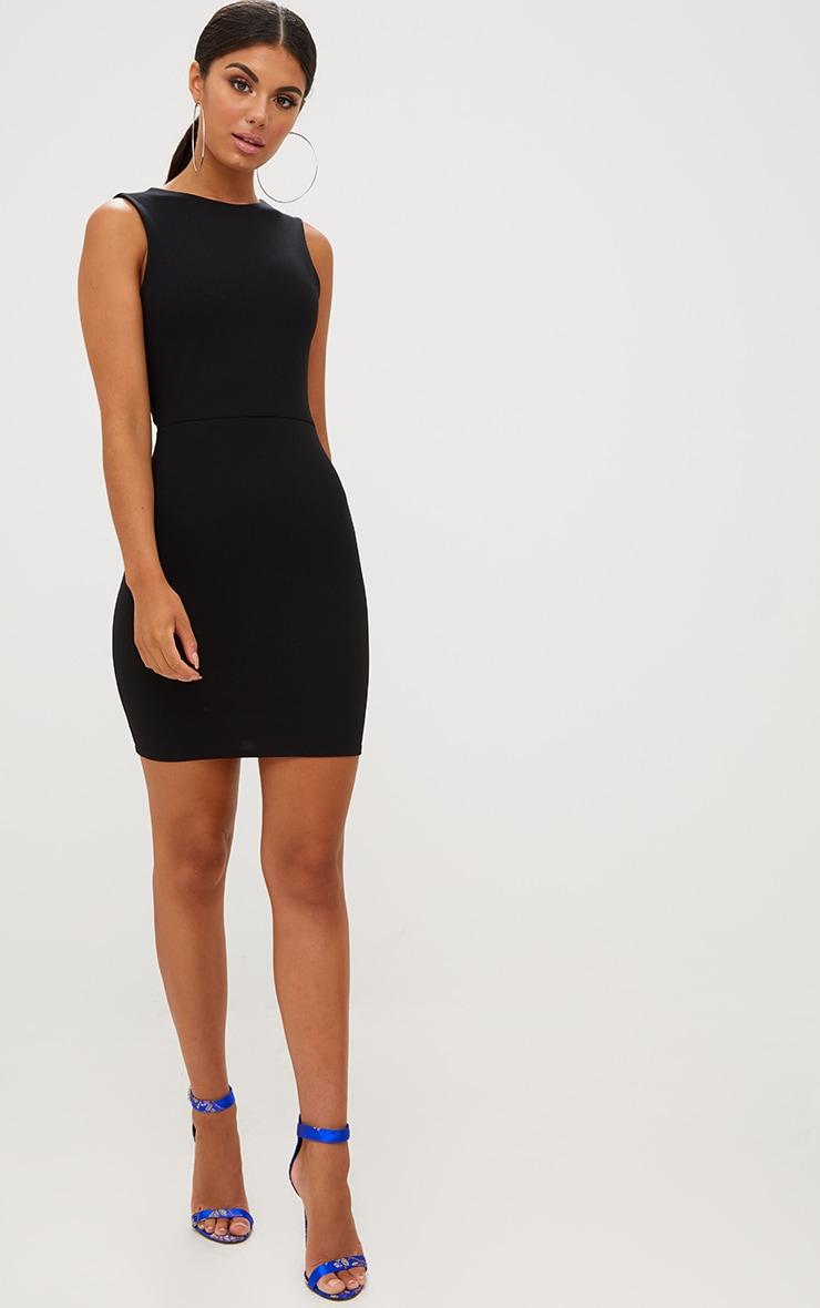 Black Bow Back Bodycon Dress 3