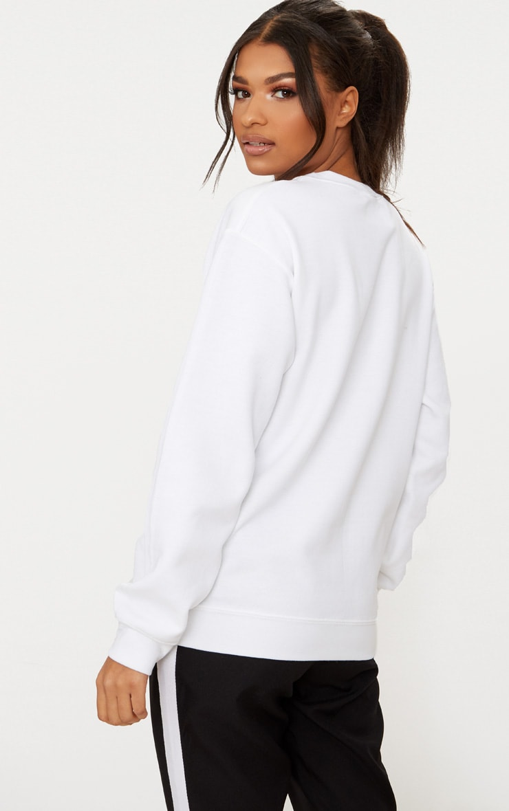 PRETTYLITTLETHING White Embroidered Oversized Sweater 2