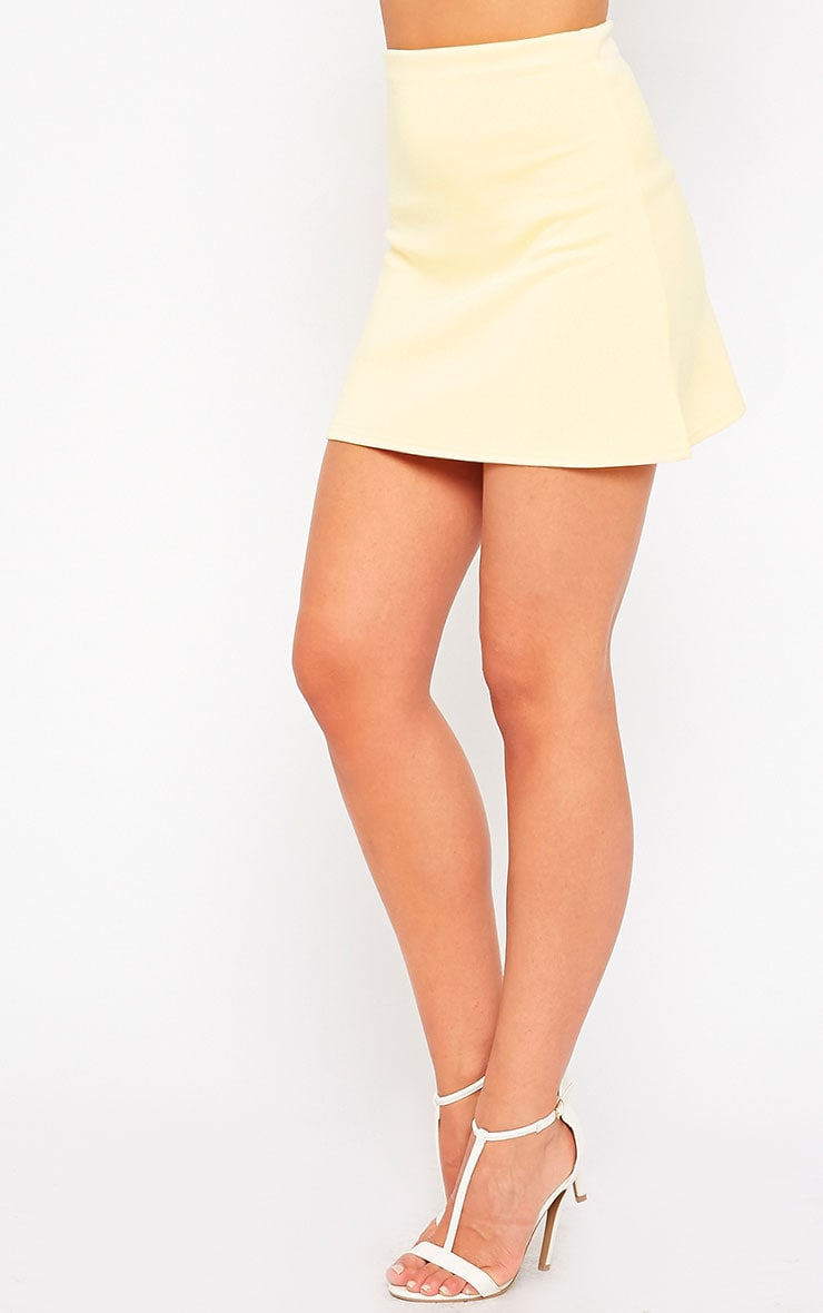 Lauryn Lemon Scuba A Line Skirt 3