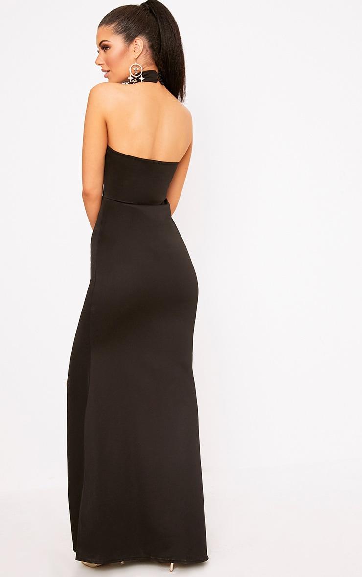 Black High Neck Maxi Dress 2