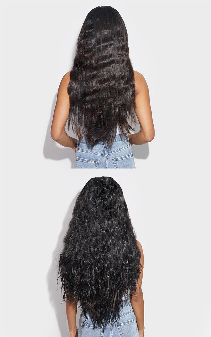 LullaBellz Super Thick 26` 5 Piece Textured Wave Clip In Hair Extensions Dark Brown 4