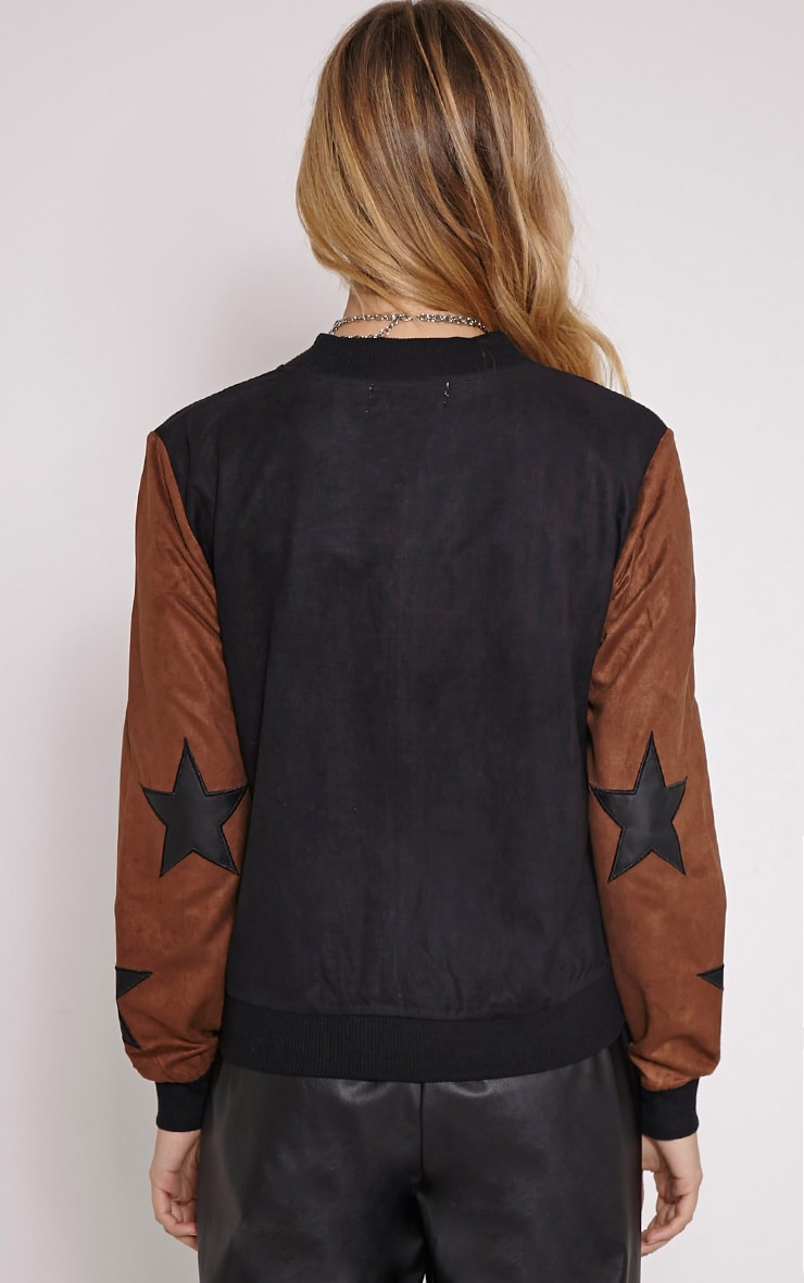 Kenji Tan Star Suede Bomber Jacket 2