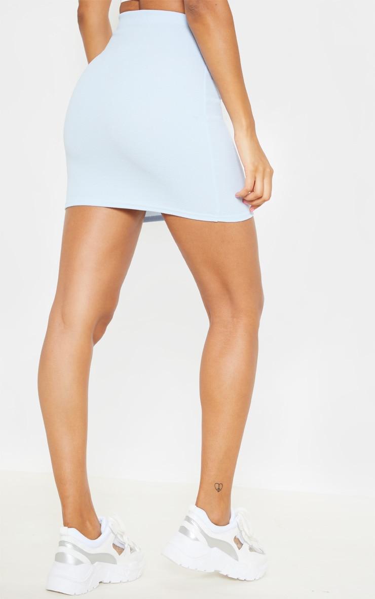 Baby Blue Mini Suit Skirt  4