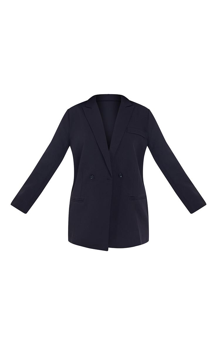 Petite Black Oversized Suit Blazer 5