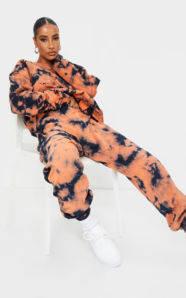 Rust Multi Tie Dye Oversized Sweater 3