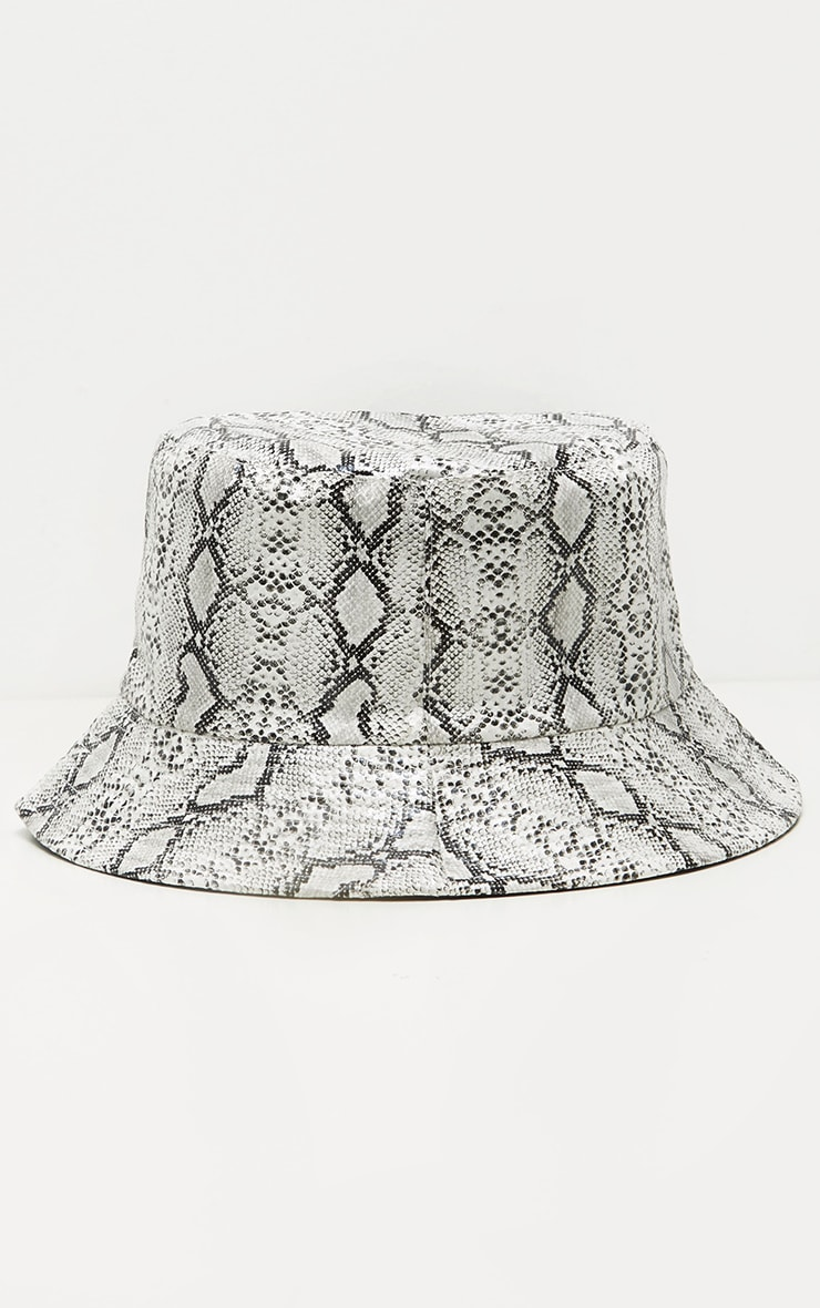 Grey Snake Bucket Hat 2