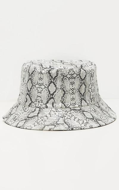 Grey Snake Bucket Hat