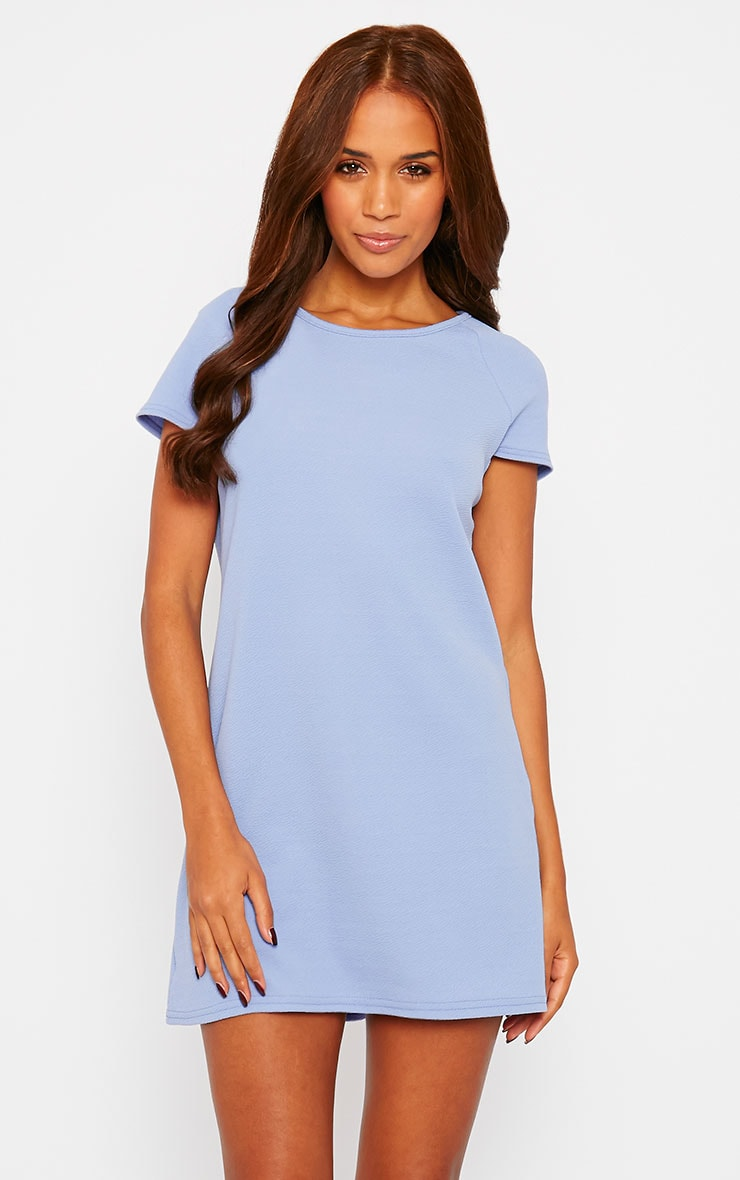 Camila Blue Loose Fit Shift Dress 1