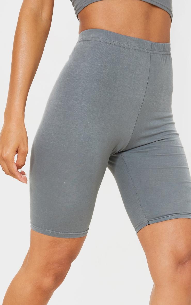 Charcoal Grey Bike Shorts 5